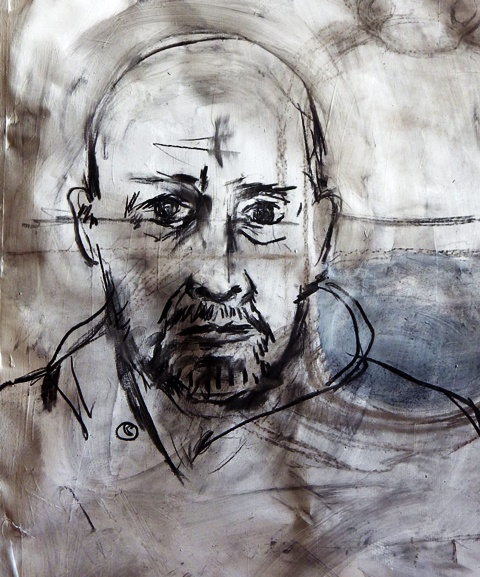 Andy Parsons self portrait drawing