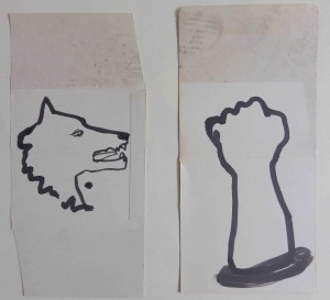 Wolf and arm